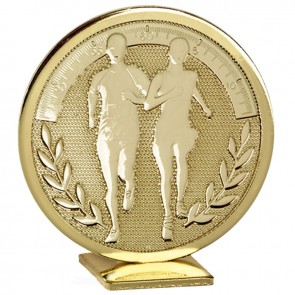 Free Standing Gold Running Global Medal