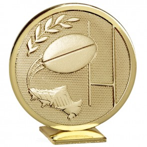 60mm Free Standing Gold Rugby Global Medal