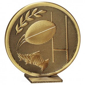 60mm Free Standing Bronze Rugby Global Medal