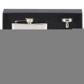 8oz Plain Rectangular Flask with two cups Vision Drinking Set