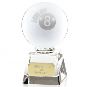 4 Inch Lasered Pool Ball Snooker & Pool Victory Crystal Award