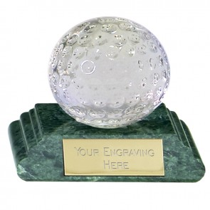 2 Inch Detailed Ball Golf Sportsman Optical Crystal Award