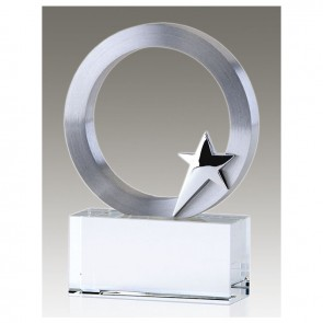 4 Inch Silver Star Disc Eclipse Award