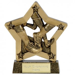 5 Inch Gold Economy Star Running Award