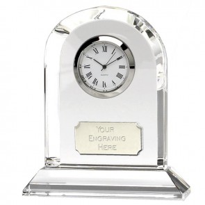 4 Inch Arched Optical Crystal Clock