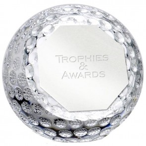 3 Inch Golf Orb Optical Crystal Award
