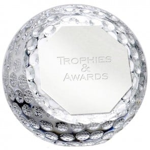 4 Inch Golf Orb Optical Crystal Award