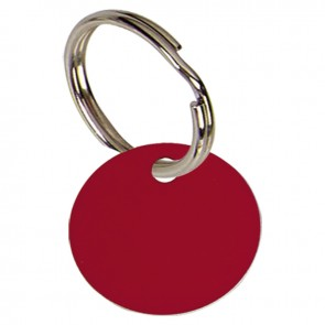 19mm Red Disc Pets Companion Pet Tag
