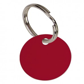 1 Inch Red Disc Pets Companion Pet Tag