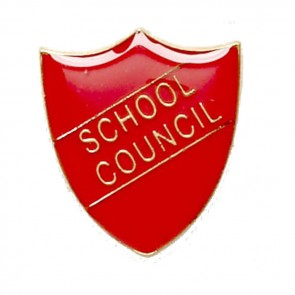 Red School Council Shield Lapel Badge