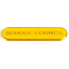Yellow School Council Lapel Badge
