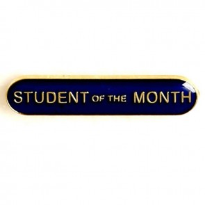 Blue Student Of The Month Lapel Badge