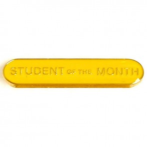 Yellow Student Of The Month Lapel Badge