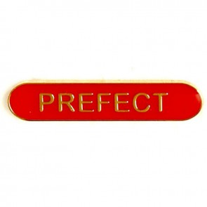 Red Prefect Lapel Badge