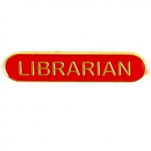 Red Librarian Lapel Badge