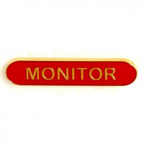 Red Monitor Lapel Badge