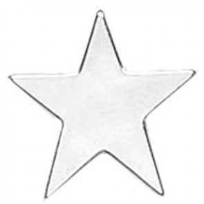Silver Star Simple Lapel Badge
