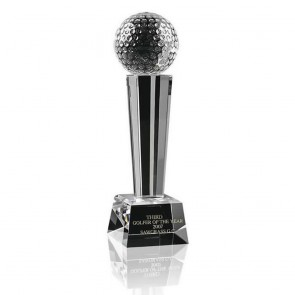 6 Inch Ball Podium Golf Optical Crystal Award