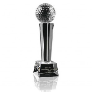 8 Inch Ball Podium Golf Optical Crystal Award