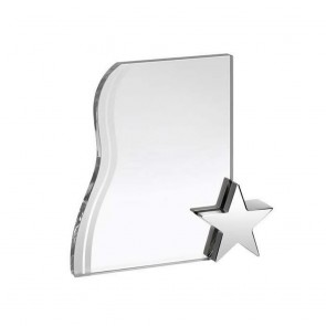 7 Inch Plaque With Metal Star Optical Crystal Award