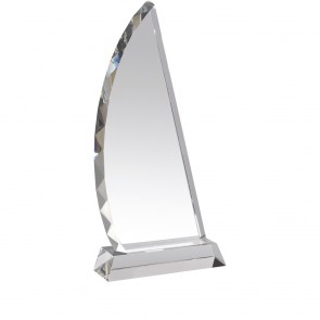 13 Inch Sophisticated Curved Optical Crystal Award