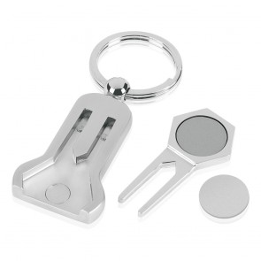 4 Inch Pitch & Magnetic Ball Marker Golf Imega Key Ring