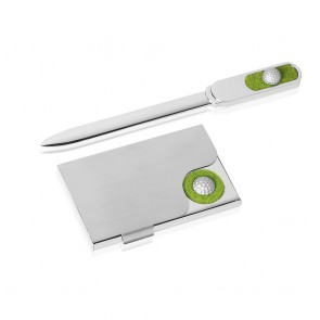 7 Inch Pitch & Put Golf Masterwin Paper Knife & Cardholder