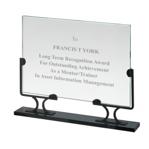 9 Inch Rectangle With Detachable Base Crystal Award