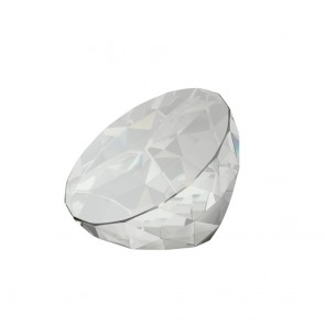 2 Inch Elegant Clear Crystal Paperweight