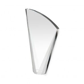9 Inch Heavy Curved Crystal Award