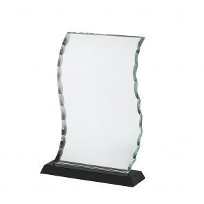 8 Inch Classic Patterned Edge Crystal Award