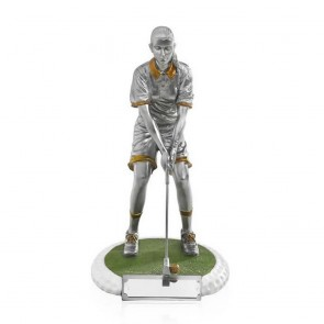 8 Inch On The Green Female Golf Golden Lion Figure Award