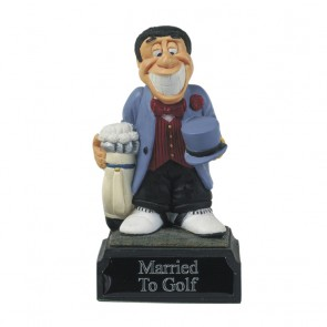 4 Inch Humorous Married To Golf Heroes Award