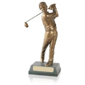 10 Inch Completed Swing Golf Signature Figure Award