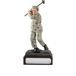 8 Inch Humorous Addicted To Golf Heroes Award