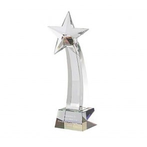 8 Inch Shooting Star Optical Crystal Award