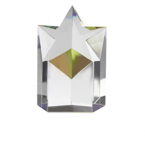 5 Inch Star Podium Optical Crystal Award