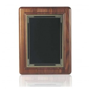 11 x 9 Inch Black Coated Brass Plate Victory Plaque