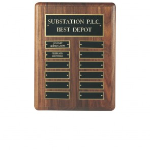12 x 9 Inch Traditional American 12 Entry Victory Plaque