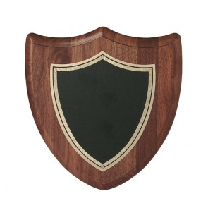 8 Inch Traditional American Black Coasted Brass Victory Shield Plaque