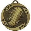 Bronze Detailed Ball Rugby Target Medal