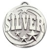 50mm Silver Text Target Medal