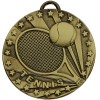 Bronze Racket & Ball Tennis Target Medal