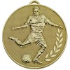 60mm Gold Striker Wreath Football Champion Medal
