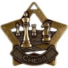 60mm Bronze Mini Star Chess Medal