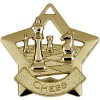 60mm Gold Mini Star Chess Medal