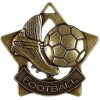 60mm Bronze Mini Star Football Boot Medal