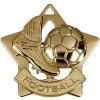 60mm Gold Mini Star Football Boot Medal