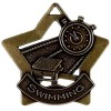 60mm Bronze Mini Star Swimming Medal