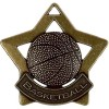 60mm Bronze Mini Star Basketball Medal